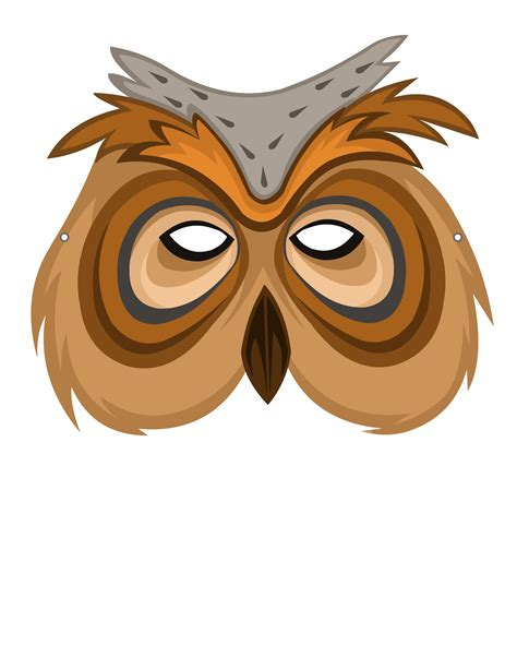 printable owl mask owl mask theme based learning skills online interactive