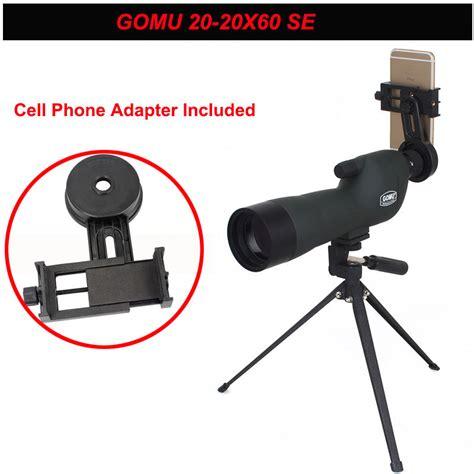 Gomu Spotting Monocular Telescope With Tripod 20 X 60 X 60 free shipping gomu 20 60x60 zoom focus monocular telescope spotting scope with tripod cellphone