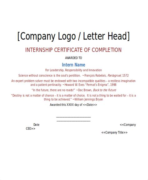Internship Letter Format Internship Certificate Template 11 Free Word Pdf Document Downloads Free Premium Templates