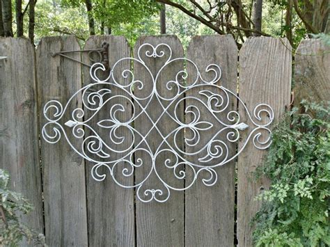 Wrought Iron Outdoor Wall Decor by Sale White Shabby Chic Metal Wall Decor Fleur De