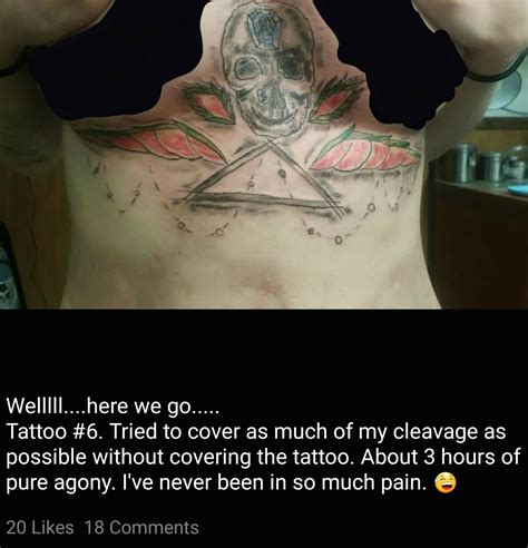 cleavage tattoo 16 regretfully bad tattoos yet tastefully horrible team