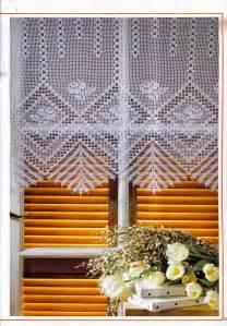 cortinas de ganchillo patrones gratis cortina tejida al crochet con diagrama y patrones