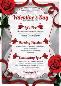 Templates For Valentines by 2 Psd S Day Flyer Menu V8 Tds