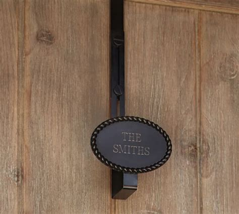 rustic rope adjustable door wreath hanger pottery barn