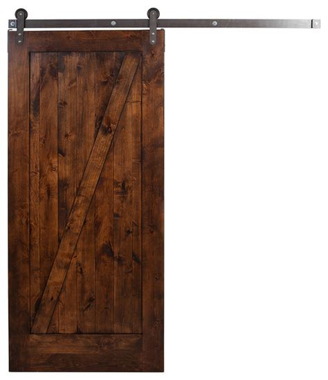 Rolling Barn Doors Traditional Unassembled Z Barn Door With Steel Rolling Hardware Farmhouse Interior Doors