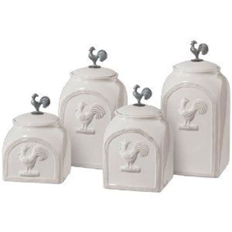 4 piece country store kitchen ceramic canister set 1000 images about rooster decor on pinterest roosters