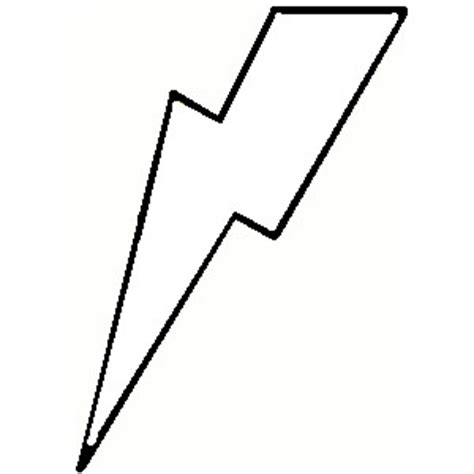 Lightning Bolt Outline Clip Art 36 Lightning Bolt Template