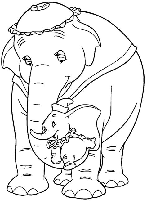 coloring pages dumbo elephant dumbo coloring pages coloringpages1001 com