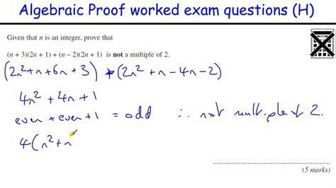 Algebraic Proof Worksheet by Maths Worksheets Gcse Algebra Free Printable Math