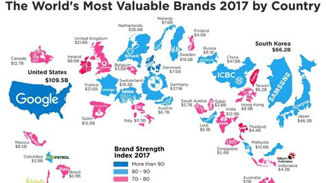 sa s most valuable brands the most valuable brands in the world in one chart marketwatch