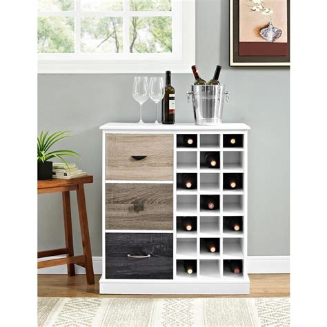 white wood wine cabinet altra furniture mercer white 21 bottle wine cabinet