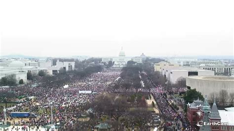 picture of inauguration crowd photos the crowd at the women s march vs donald trump s