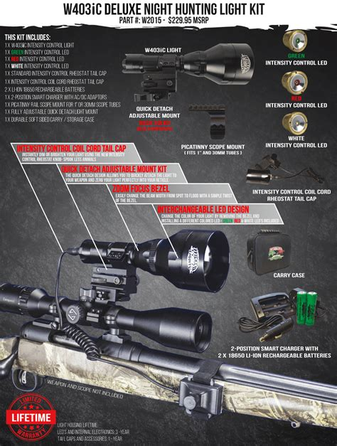 predator hunting lights reviews wicked lights w403ic deluxe night hunting light kit
