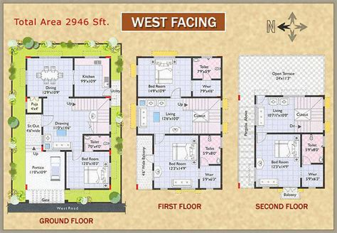 vastu plans for west facing house west facing house plans as per vastu in india escortsea