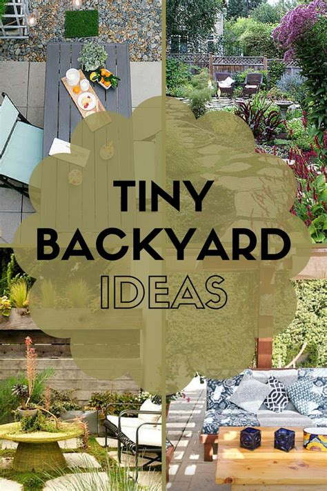 ideas  steal  real peoples tiny backyards