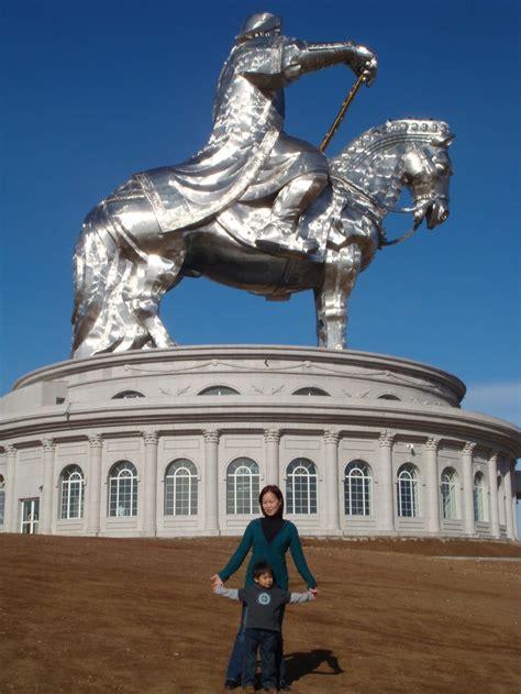 genghis khan equestrian statue wikipedia genghis khan equestrian statue 40 m tall mongolia