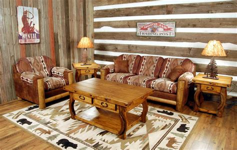 rustic modern living room furniture with brown sofa home
