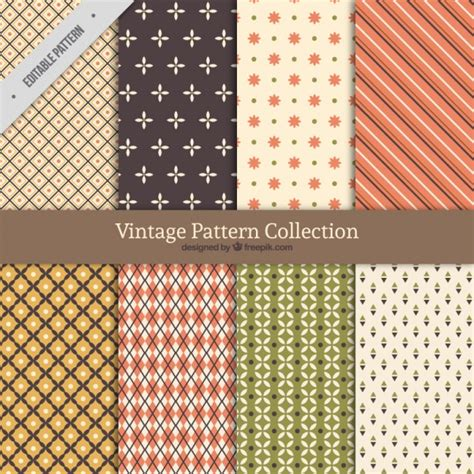 pattern collection download vintage pattern collection with different shapes vector