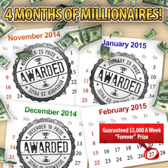 Pch Forever Prize - our 4 months of millionaires finale the quot forever quot prize pch blog