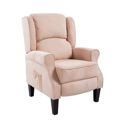 vibrating recliner homcom heated vibrating suede massage recliner cream
