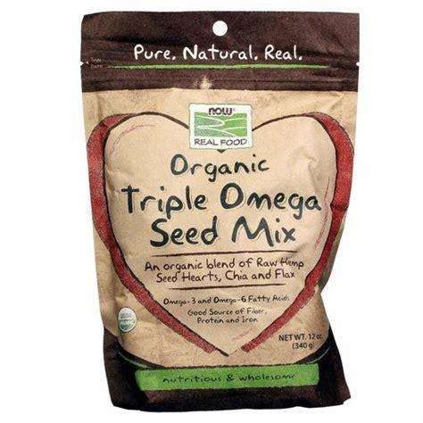 Chia Seed 500 Gram Sumber Omega 3 Wajib Bagi Vegetarian now foods organic omega seed mix 12 oz