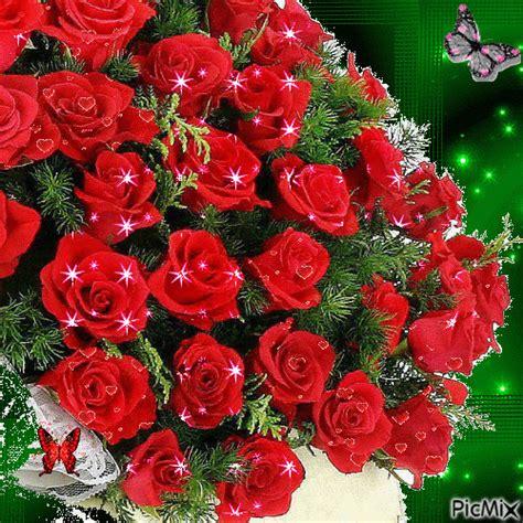 imagenes de flores para enviar por whatsapp gif animado de un ramo de rosas para mandar por whatsapp