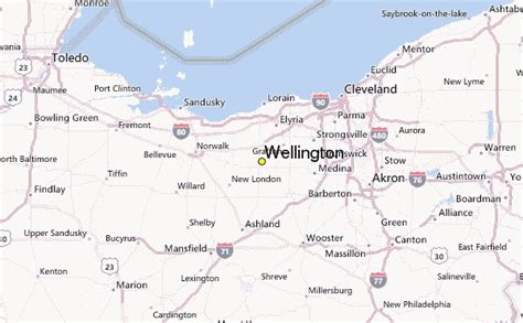 wellington ohio map wellington weather station record historical weather for
