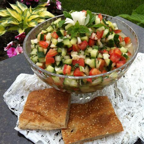 ricette persiane la cucina persiana salad shirazi insalata di