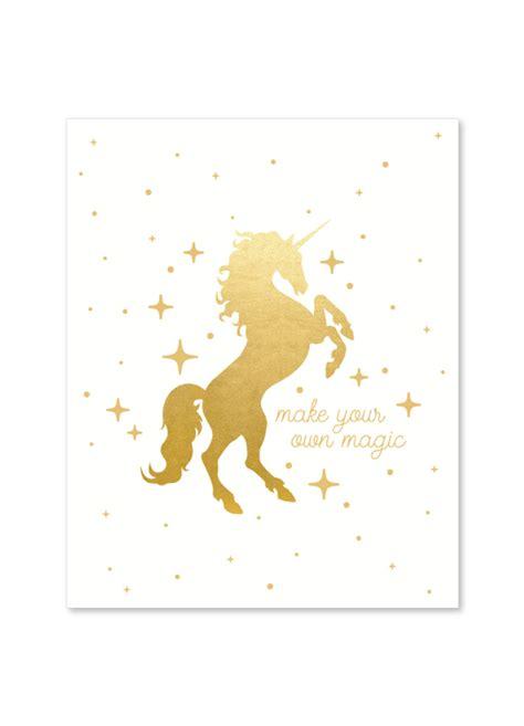 Seltzer Goods Unicorn Gold Print