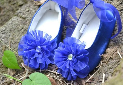 royal blue flower shoes royal blue black gray infant toddler baby flower