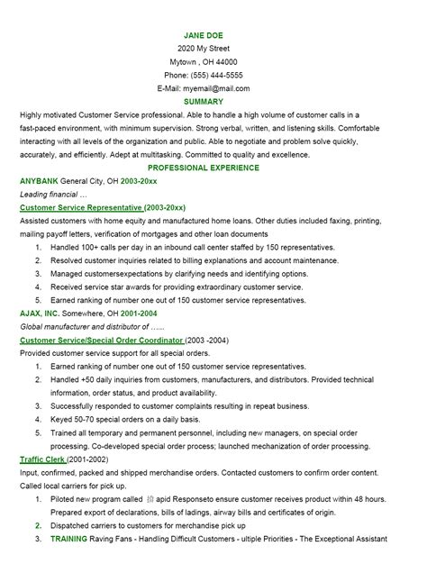 objectives for customer service resume exles of resumes resume social work