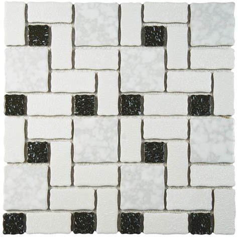 merola tile academy white and black 11 3 4 in x 11 3 4 in
