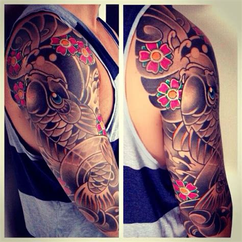 traditional japanese tattoo sleeve my japanese sleeve ink inked up dudes