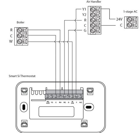 wiring diagram for 2 stage thermostat 28 images room