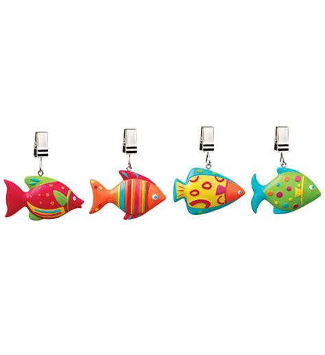 decorative fish tablecloth weights set of 4 in picnic