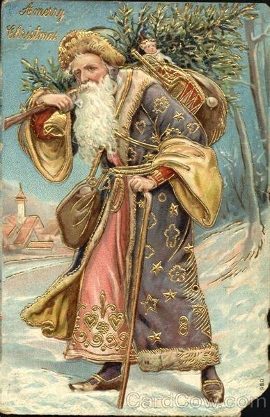 german santa  purple robe santa claus