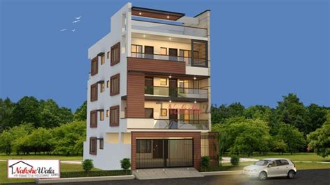 House Design Images Kerala by Multi Storey Residential Buildings 3d Front Elevation Design