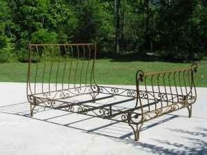 wrought iron sleigh bed frame sleigh beds size and bed frames on