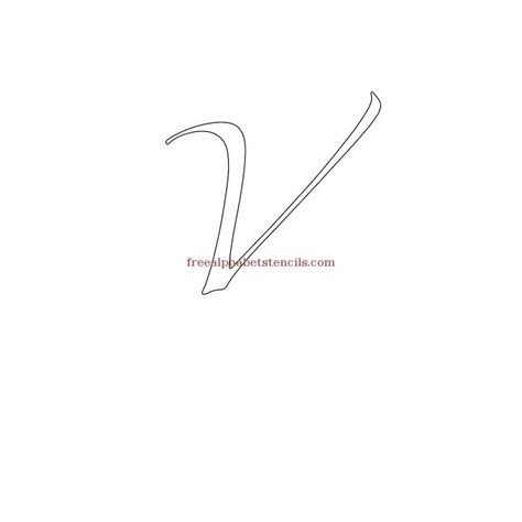 Character Uppercase Letter Cursive With Character Alphabet Stencils