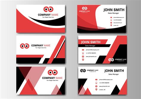 card name template vector free business name card vector free vector