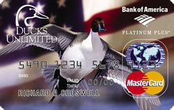 Ducks Unlimited Cards - credit card ducks unlimited world points platinum