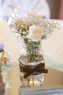 Centerpieces wedding colors baby breath mason jars centerpieces