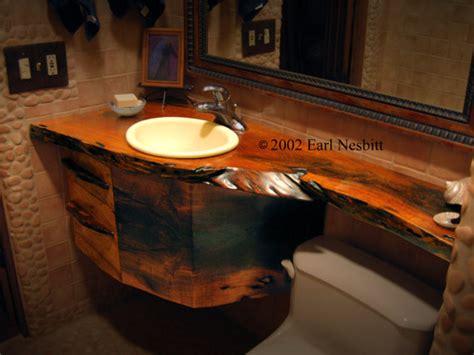 Vanity Countertop And Drawers Solid Mesquite Bathroom Countertop Storage Drawers