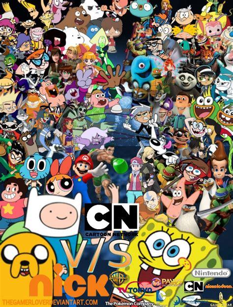 wallpaper of cartoon network cartoon network vs nick wallpaper by thegamerlover on
