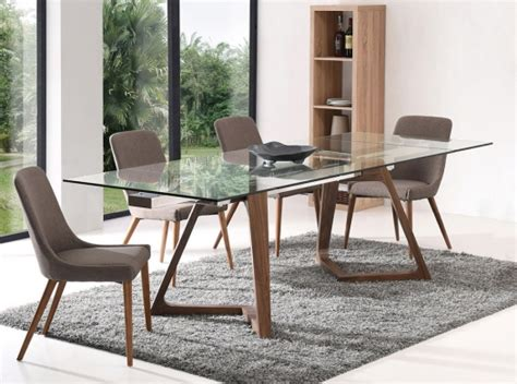 extendable glass top dining table modern extendable dining table ef 18811