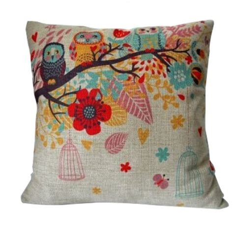 Pillow With Cover by Owls With Birdcage Pillow Cover Only 3 19 Free Shipping
