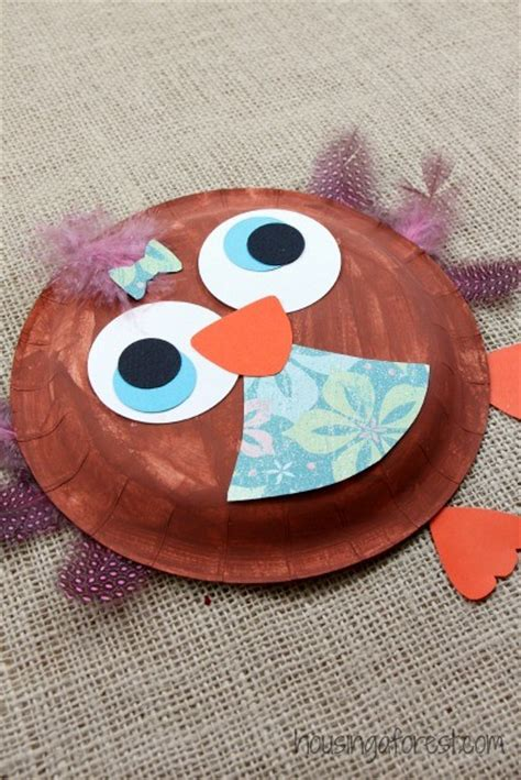 How To Make A Paper Plate Owl - paper plate owl housing a forest