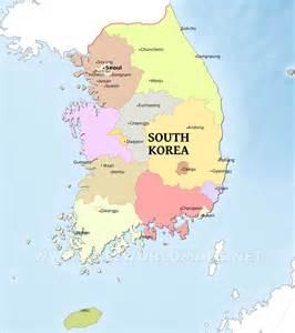 South Korea World Map by South Korea Maps