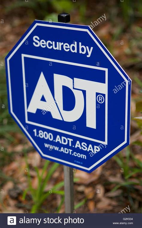 adt security sign stock photo royalty free image