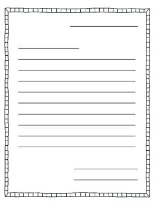 Letter Writing Template Printable Blank Templates With Ks2 Midcitywest Info Letter To Template Ks2